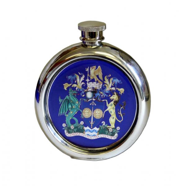 Round Enamelled Flask